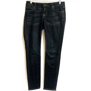KUT Stretch Skinny Jeans Dark Wash Sz 0P 28x29 Low